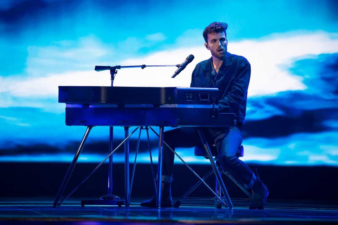 Duncan Laurence under genrepet inför semifinalen i Eurovision