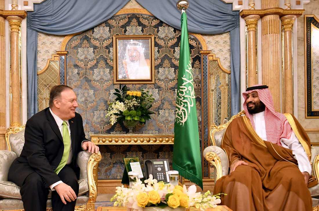 USA:s utrikesminister Mike Pompeo träffade Saudiarabiens kronprins Mohammed bin Salman på onsdagen.