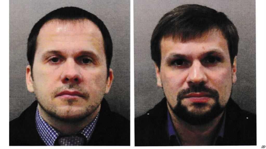 Alexander Petrov och Ruslan Boshirov.