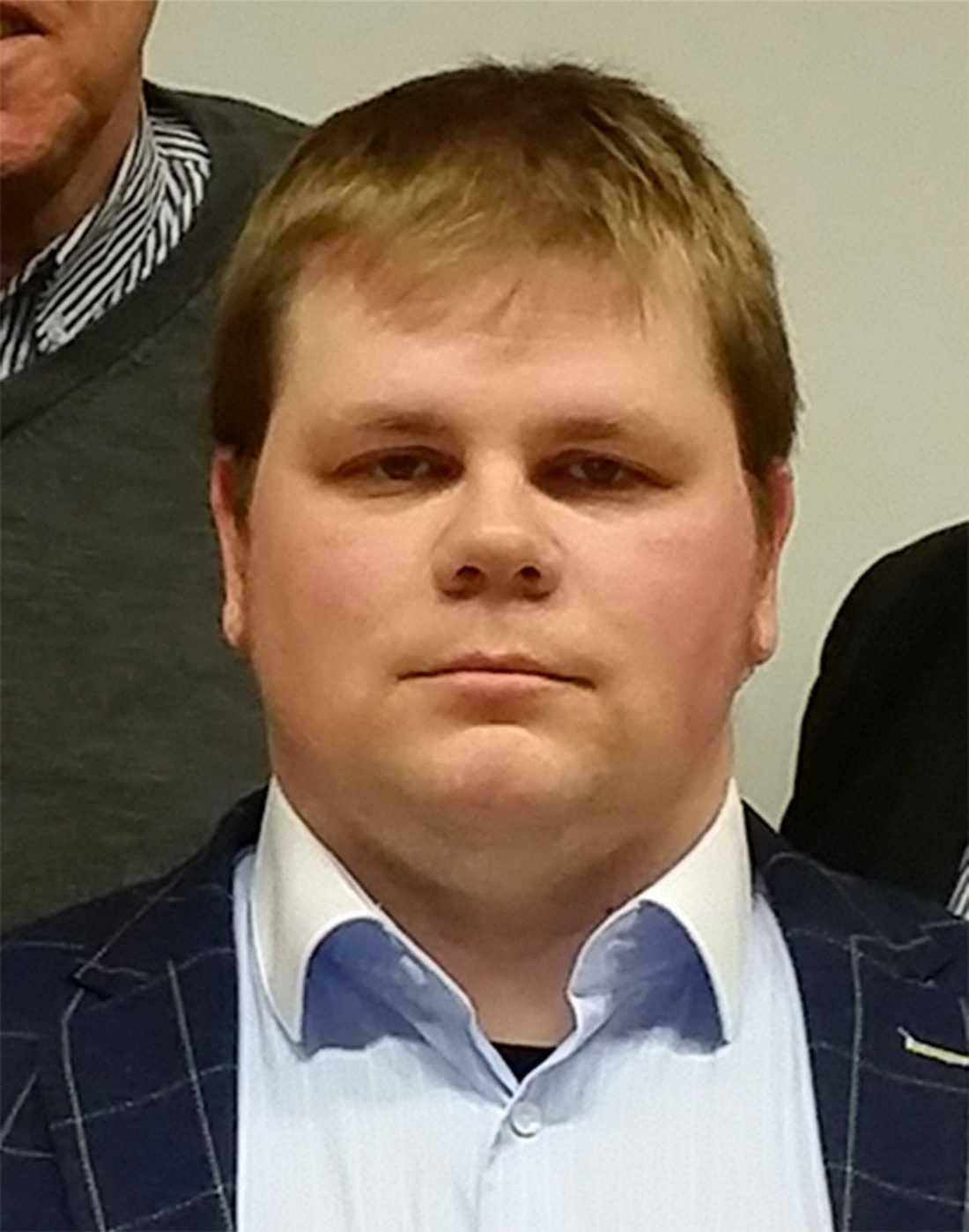 Sebastian Lindqvist, ordförande för SD i Botkyrka.