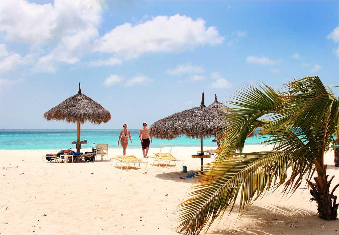 Mjuk sand, sol och knallturkost vatten. På Aruba är livet som det ska vara.