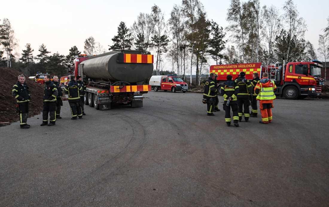 Räddningstjänstens ledningsplats i Hästveda.