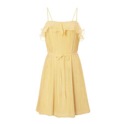 Citrongul klänning i lite kortare modell, 299 kronor, GinaTricot.se