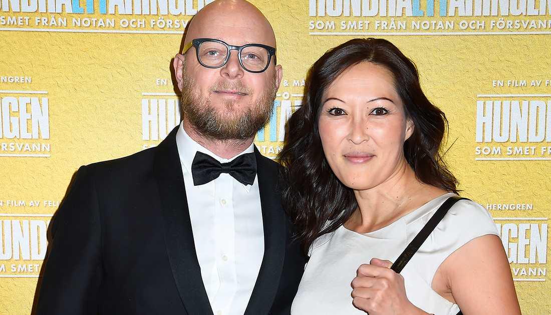 Pieter Ten Hoopen och Lena Sundström är nu man och hustru.