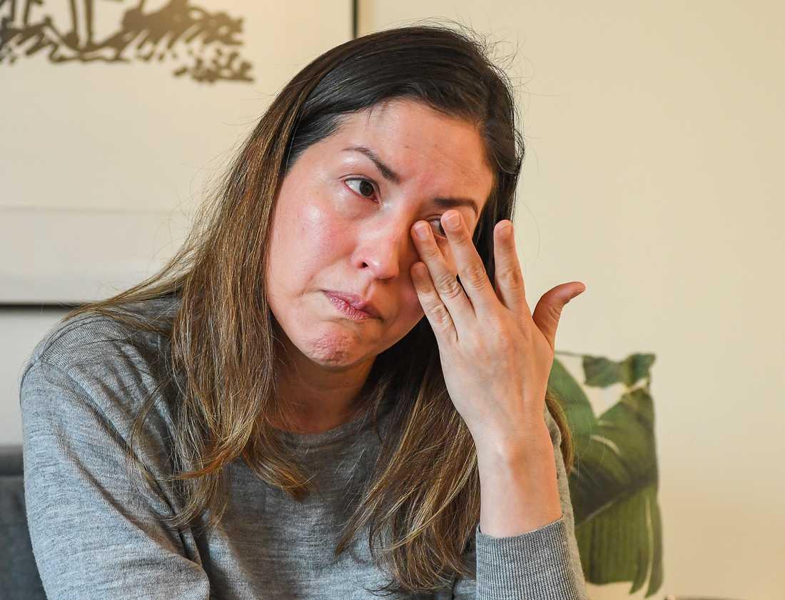 """""""Jag kan hjälpa min familj. Det är mycket värre för dem som inte har någon utomlands som kan göra det"""", säger Wuendy Cardenas."""