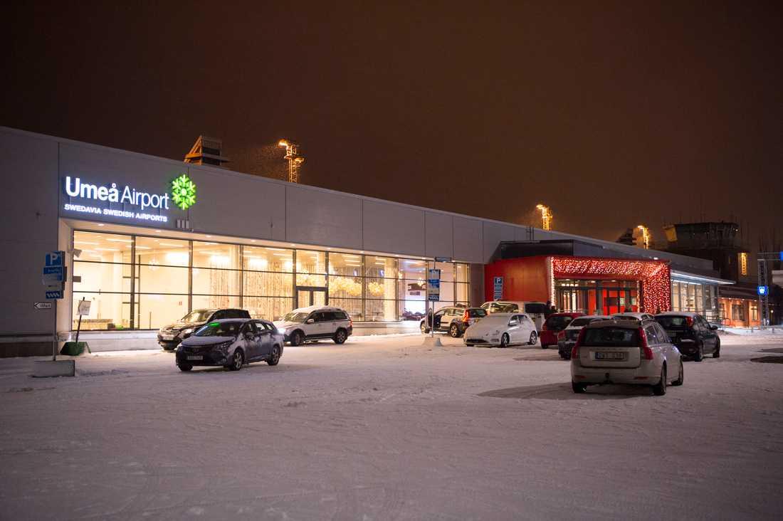 Umeå flygplats, slutdestinationen.