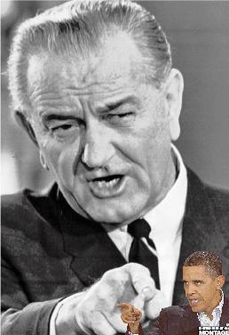 Avgick Lyndon B Johnson lämnade sin post i samband med kriget i Vietnam. Nixon vann valet 1968 och välfärden förlorade. 40 år senare lever hoppet om att president Obama ska satsa på samhället i stället för kriget i Afghanistan.