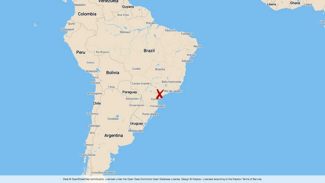 Delstaten Sāo Paulo i Brasilien.