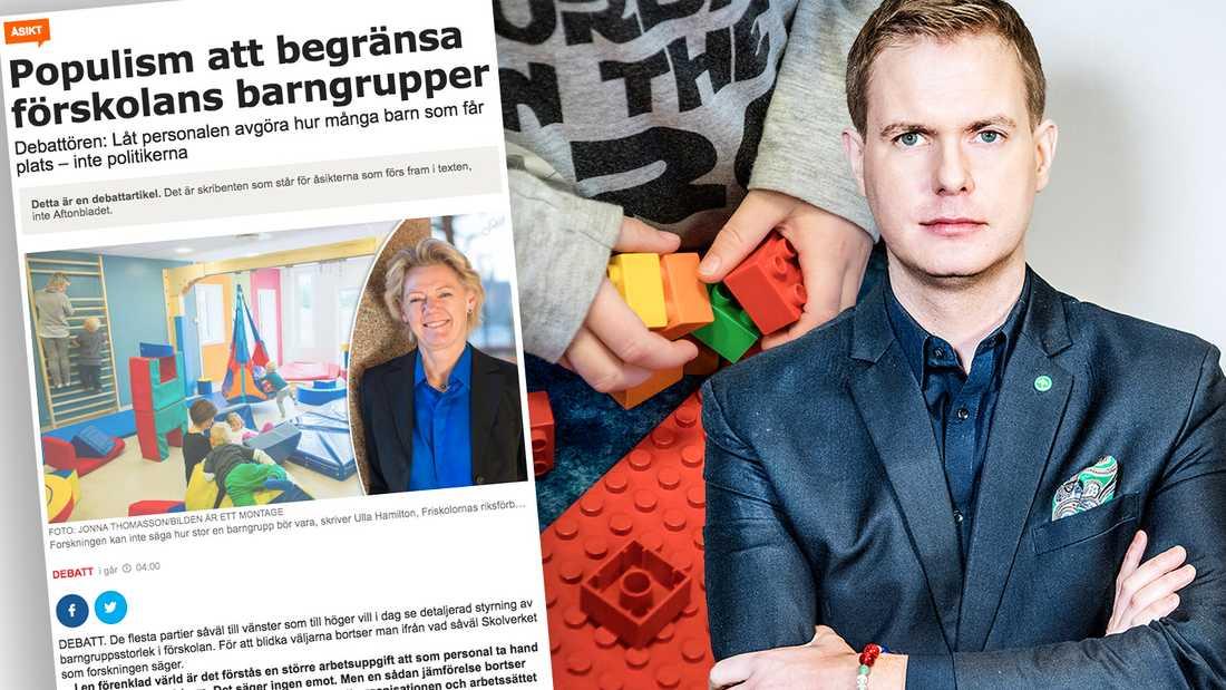 Personalen i förskolorna håller med mig. Barngrupperna ska bli mindre, skriver Gustav Fridolin (MP).