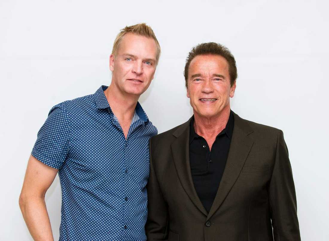Nöjesbladets Magnus Sundholm träffar Arnold Schwarzenegger i Beverly Hills.