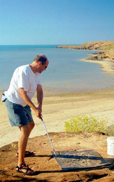 En härlig golfdag på de australiensiska vidderna.