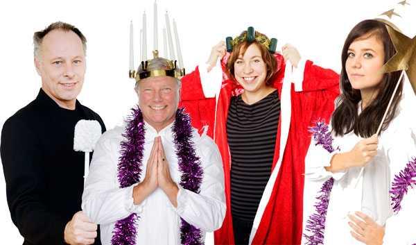 GOD JUL Johan Ehrenberg, Lars Ohly, Kristina Henkel och Maria Loohufvud guidar till en mer jämställd jul.