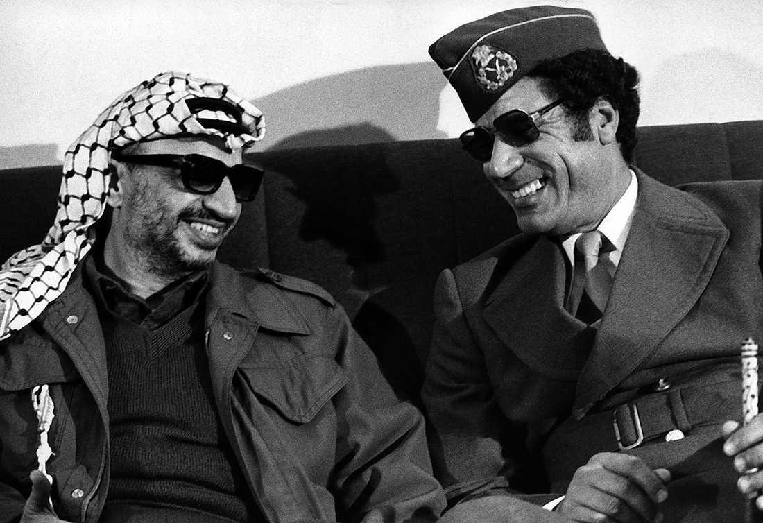 PLO-ledare Yassir Arafat fick ett varmt välkomnande.