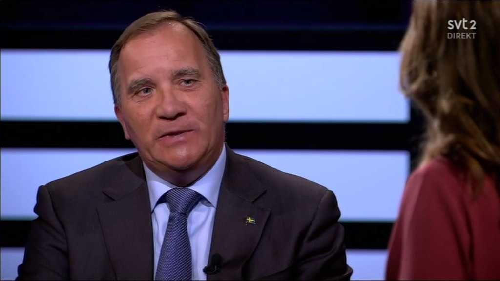 """Statsminister Löfven i """"Agenda"""" under söndagskvällen."""