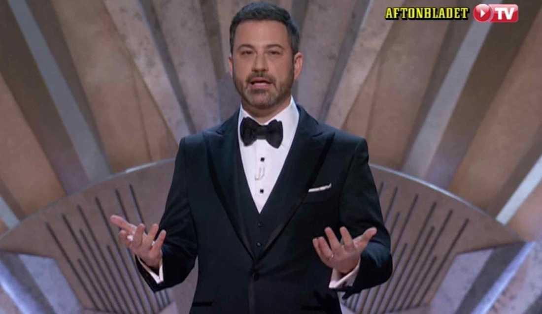 Galans värd Jimmy Kimmel.