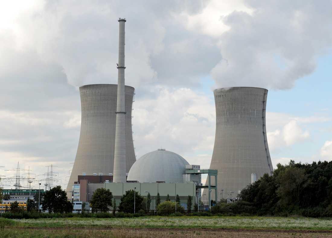 Kärnkraftverket Grafenrheinfeld i Tyskland, som lades ner 2015.