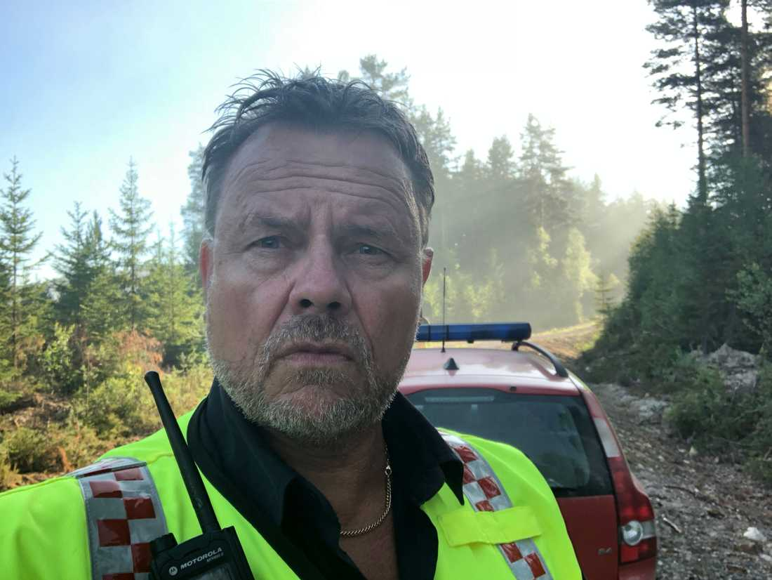 Räddningsledare Peter Karlsson.