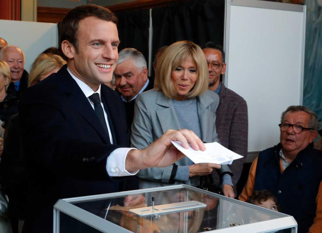 Macron röstar.