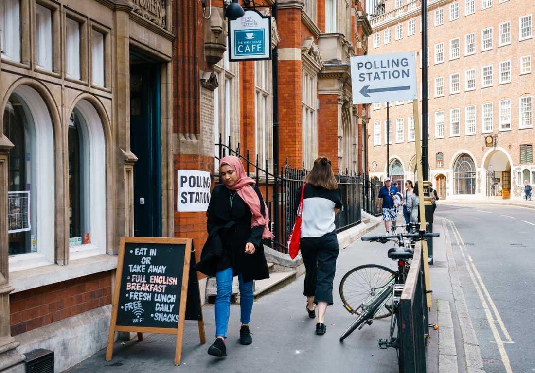 Vallokalen vid Great Smith Street som ligger närmast parlamentsbyggnaderna.