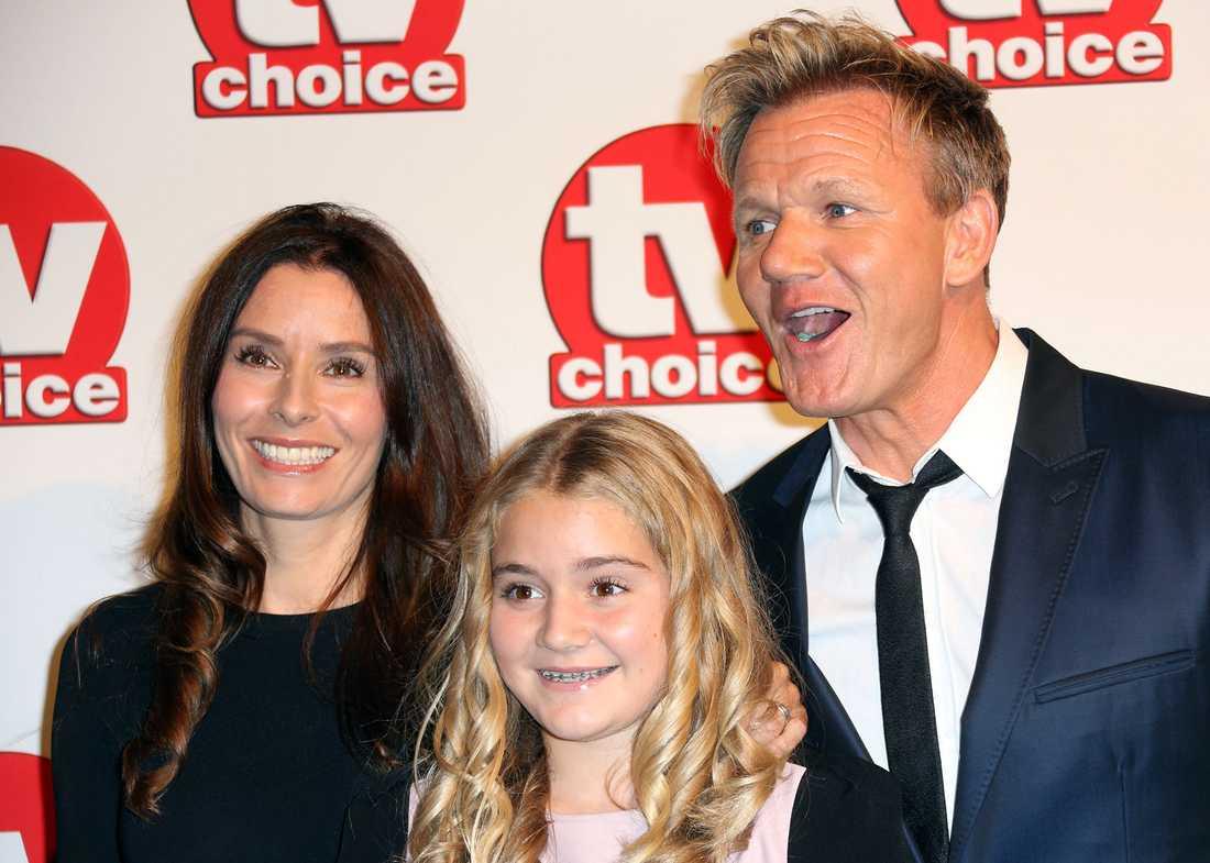 Gordon Ramsay med hustrun Tana och dottern Matilda. 2014.