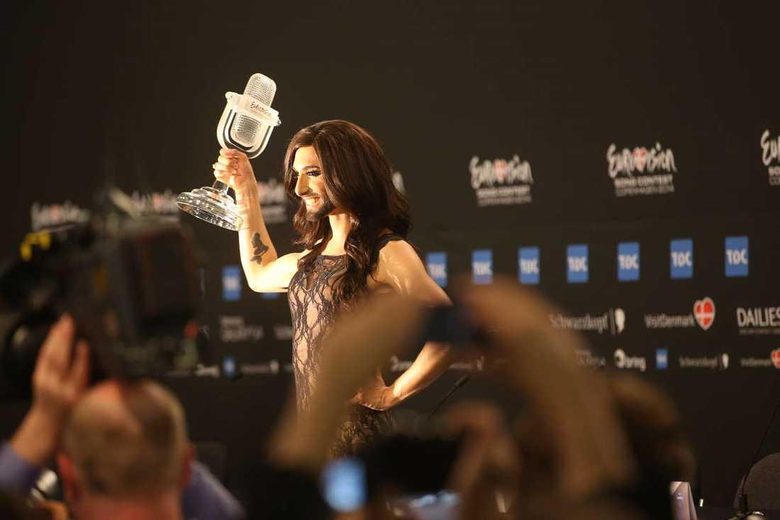 Conchita Wurst kammade hem segern i Eurovision song contest.