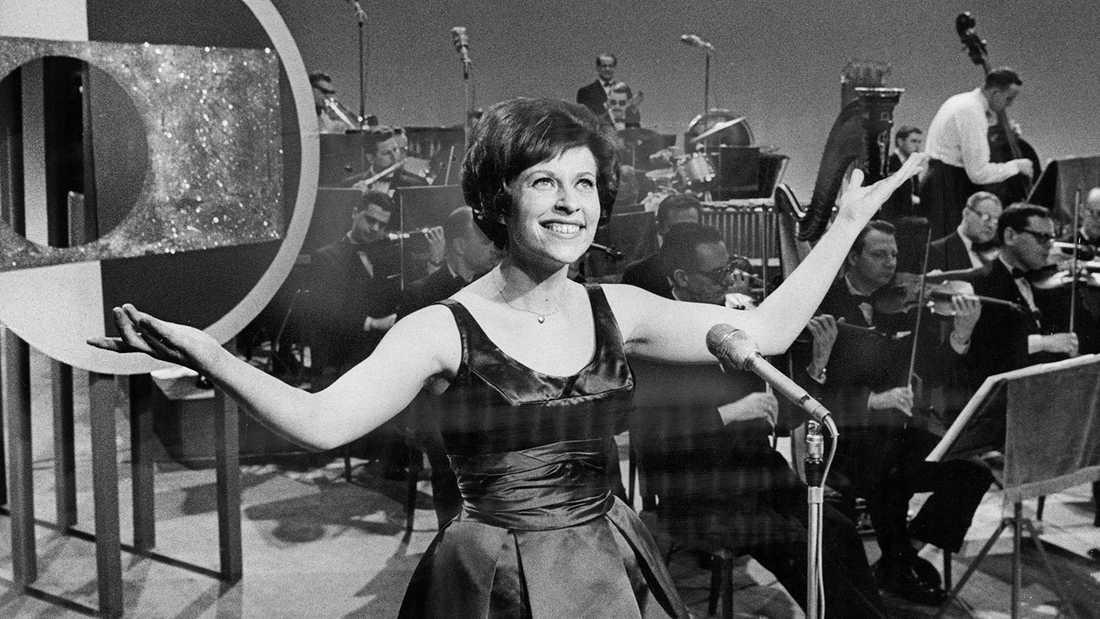 Inger Berggren i Melodifestivalen 1962.