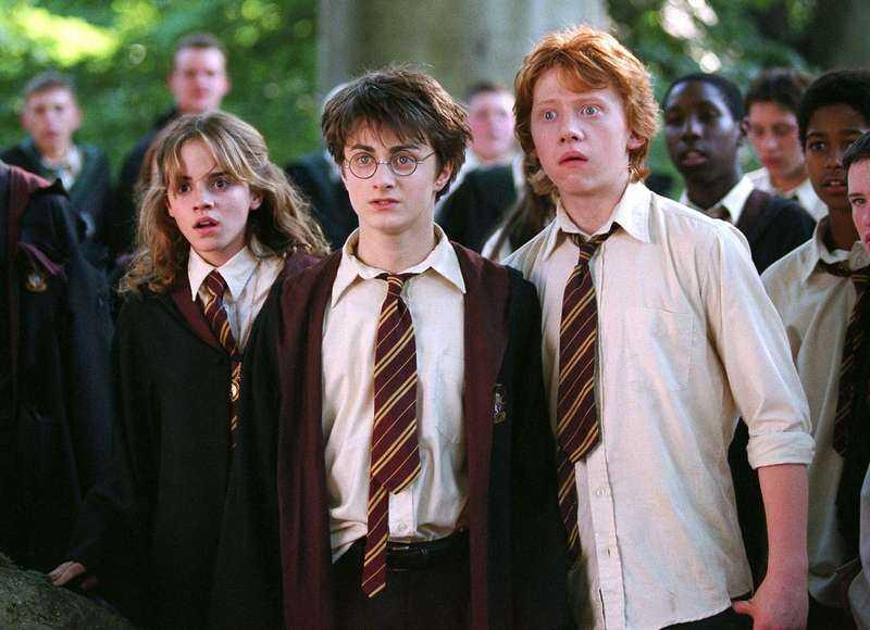 Hermione, Harry och Ron.