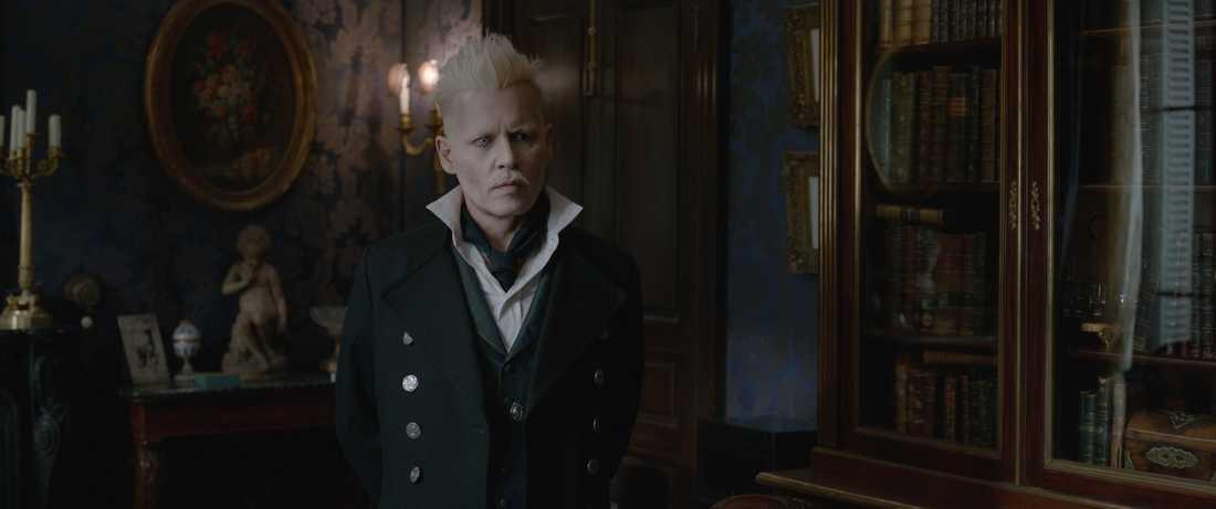 """Johnny Depp i """"Fantastiska vidunder: Grindelwalds brott""""."""