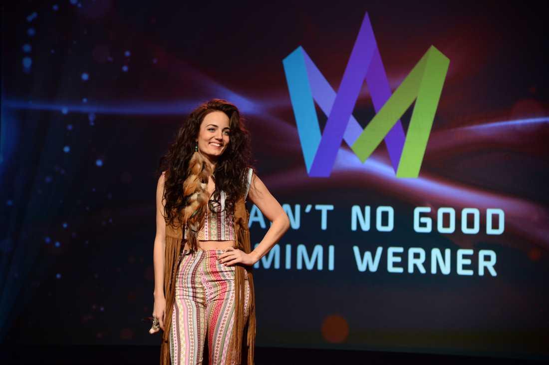 """Mimi Werner, som är brorsdotter till Jill Johnson, debuterar med """"Aint no good""""."""