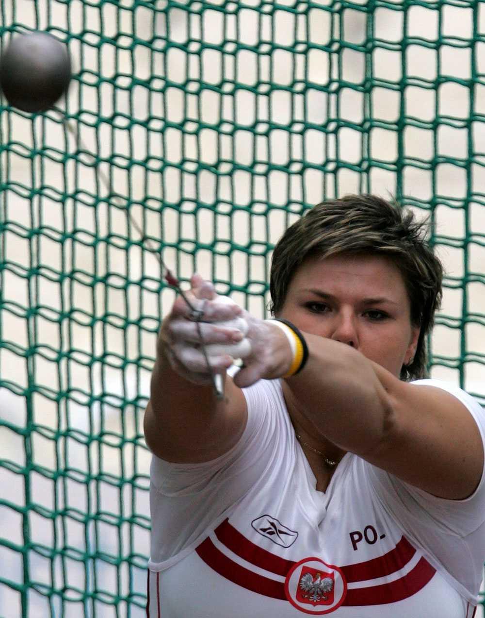 Kamila Skolimowska tog OS-guld i Sydney 2000.