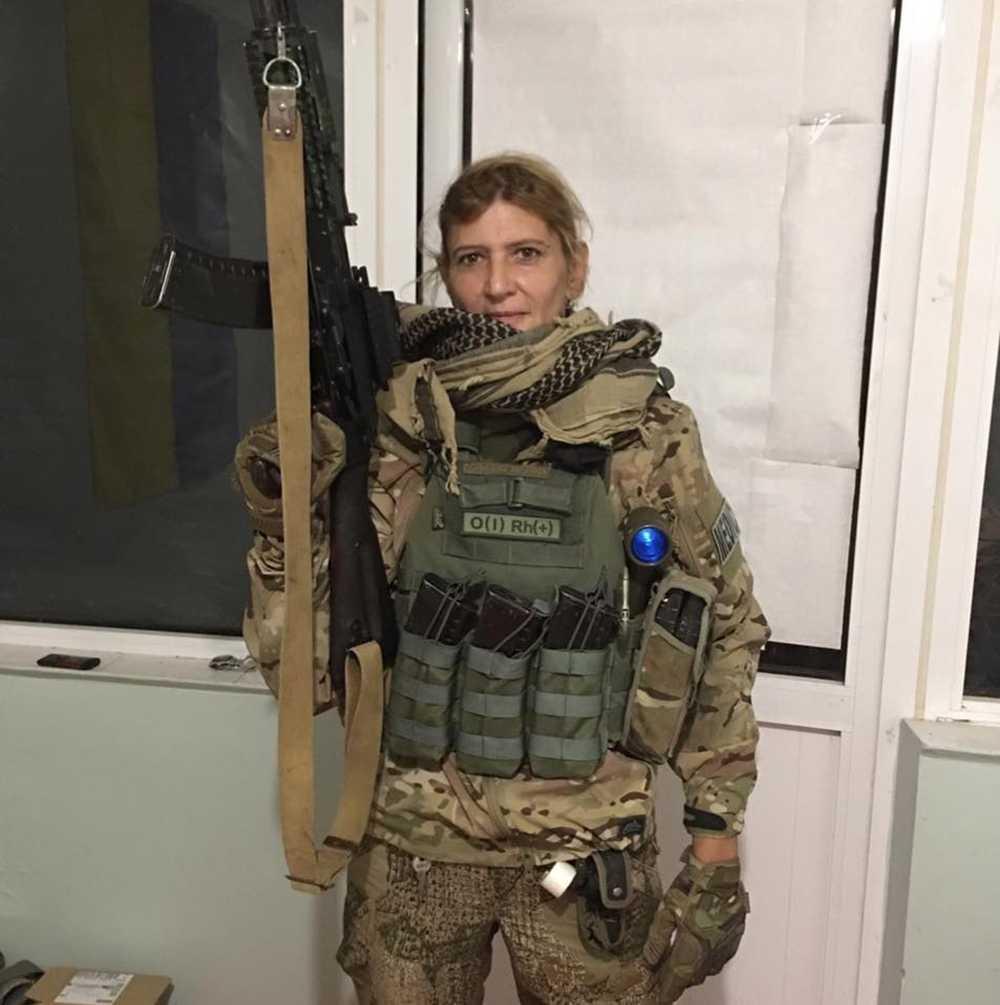 Nina Albertsson var vid fronten i östra Ukraina mellan 2015 och 2019. Bild från hennes egen Facebook-sida.