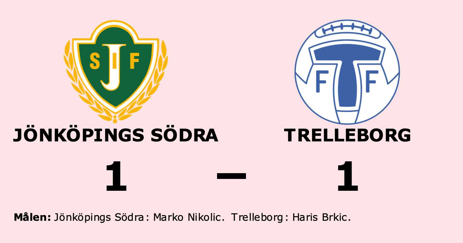 Jönköpings Södra tappade ledningen mot Trelleborg