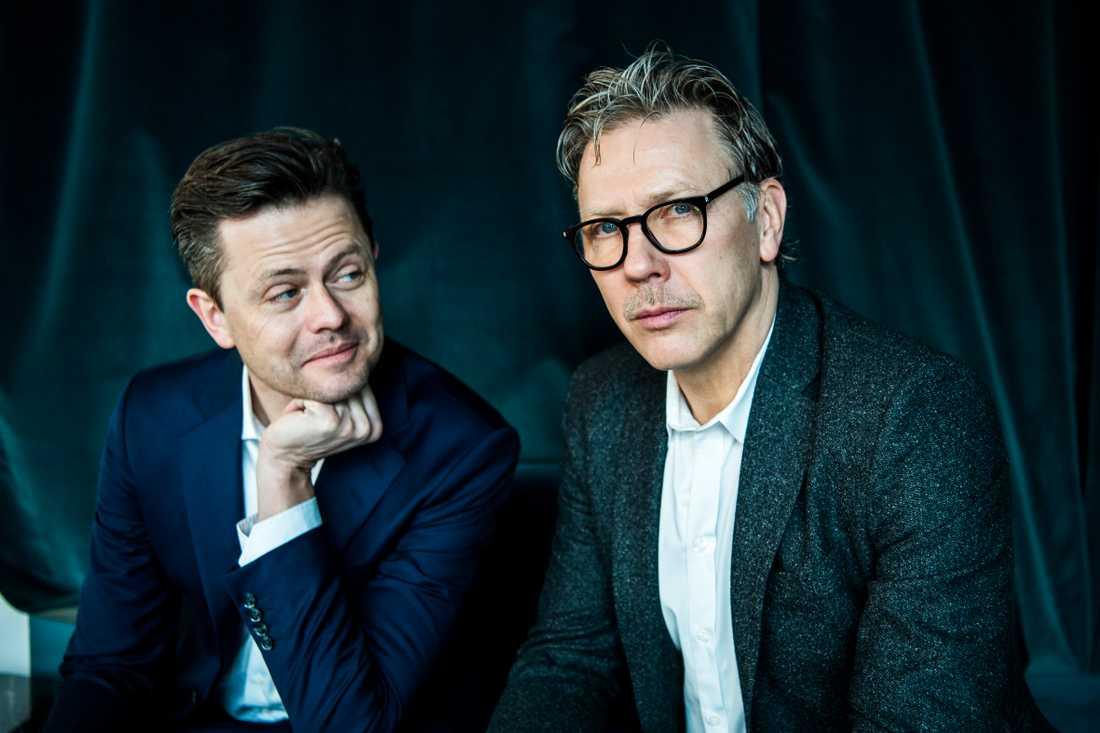 Fredrik Wikingsson och Mikael Persbrandt.
