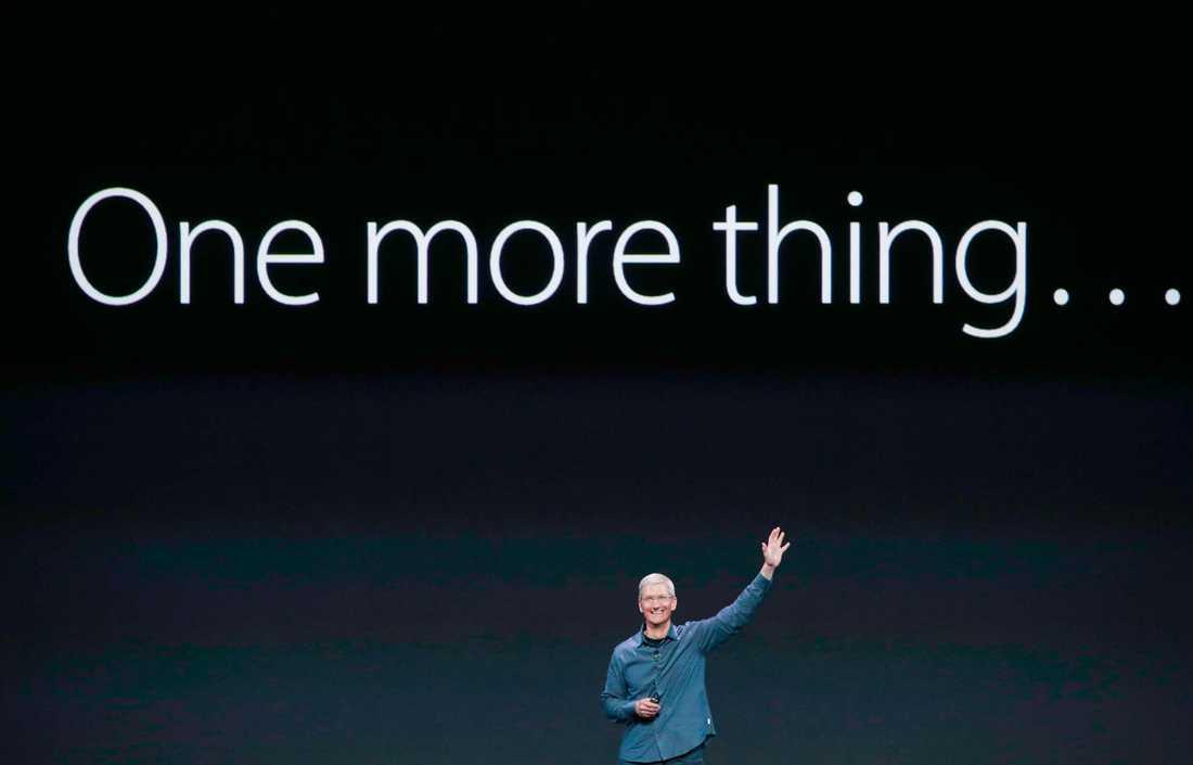 """Apples vd Tim Cook presenterade """"one more thing"""", alltså..."""