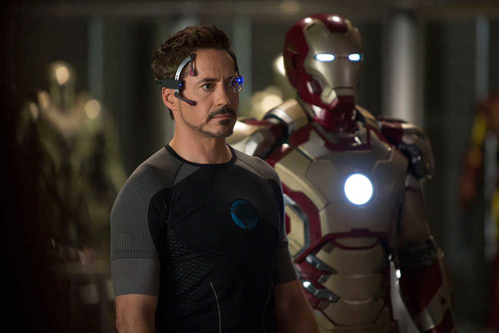 Robert Downey Jr i rollen som Tony Stark i filmen Iron Man 3.