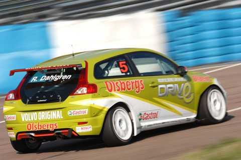 Så här såg det ut förra året när Robert Dahlgren och Polestar Racing testade.