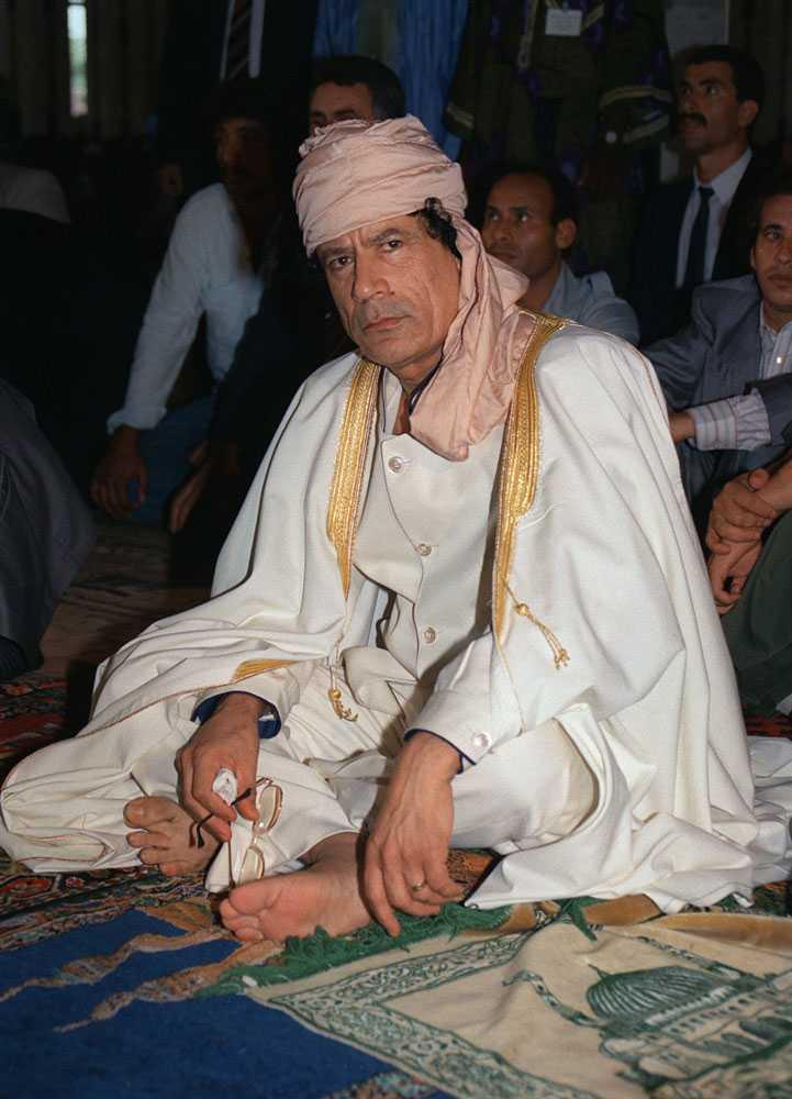 Gaddafi tog makten i en militärkupp 1969.