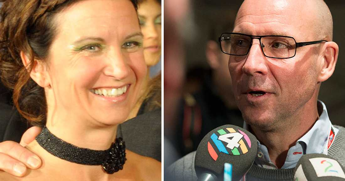 "Marie-Helene ""Billan"" Östlund och Torgny Mogren följde loppet."