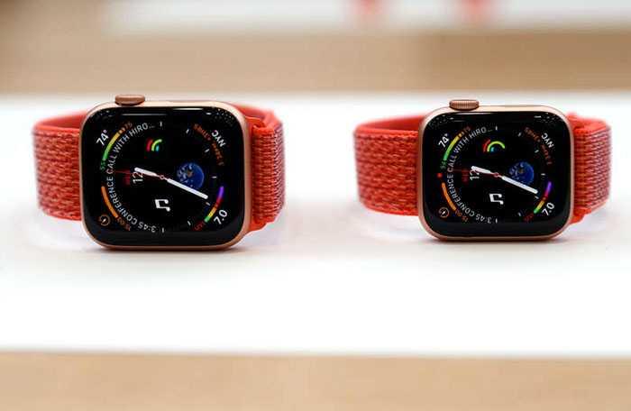 Apple Watch Series 4 med inbyggt EKG.