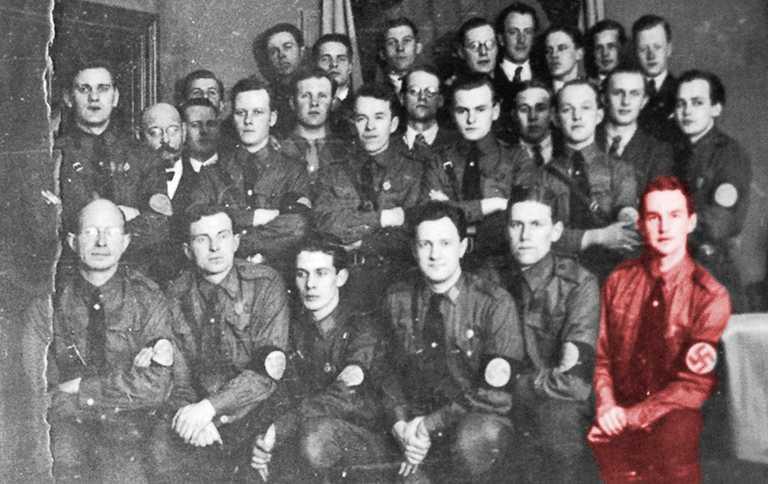 Gustaf Ekström i SA-uniform, omkring 1935.