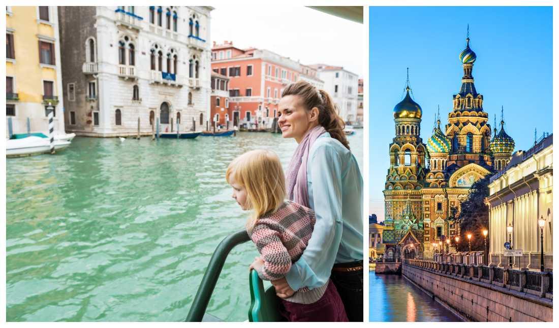 Vart vill du resa - Venedig eller Sankt Petersburg?