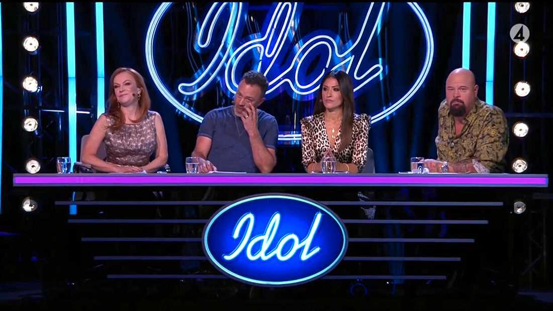 """""""Idol""""-juryn är intakt från i fjol, från vänster Kishti Tomita, Alexander Kronlund, Nikki Amini och Anders Bagge."""