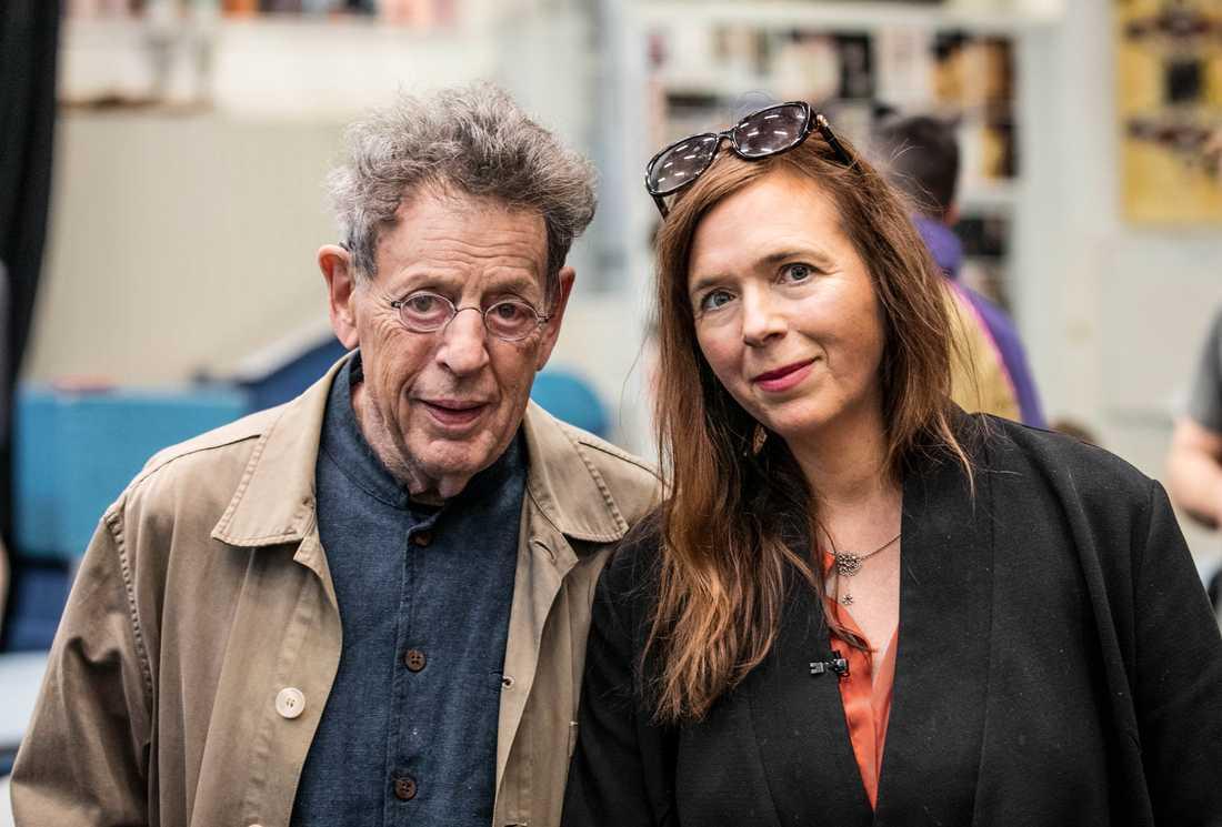 """Kompositören Philip Glass och Cirkus Cirkörs konstnärliga ledare Tilde Björfors gör gemensam sak med föreställningen """"Cirkus days and nights"""", som sätts upp på Malmö Opera nästa vår. Pressbild."""
