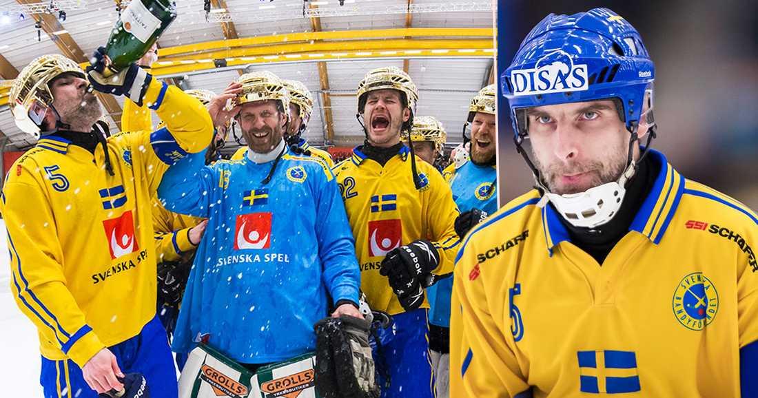 Westh firar VM-guldet i Sandviken 2017, hans femte i ordningen.