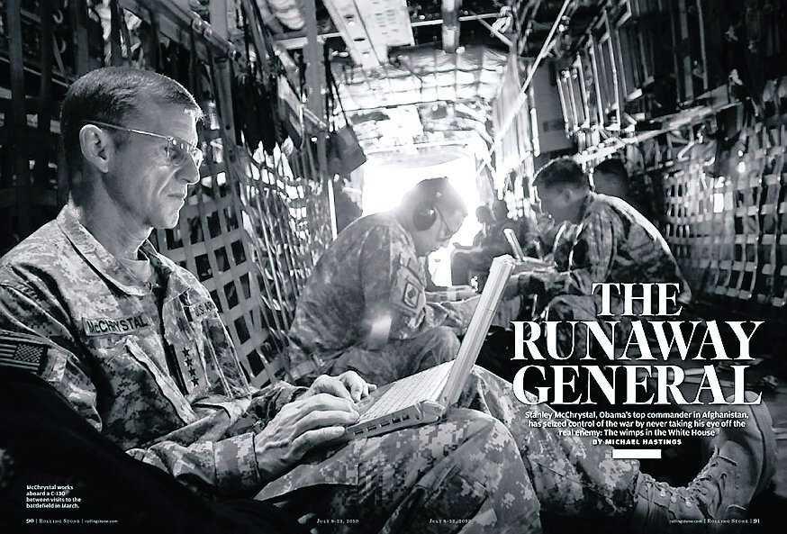 "Ur Hastings reportage om McChrystal. Publicerat i ""Rolling Stone"" 15 mars, 2010."