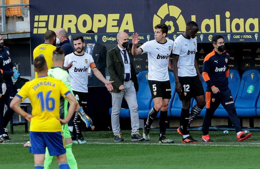 Matchen mellan Valencia och Cadiz avbröts.