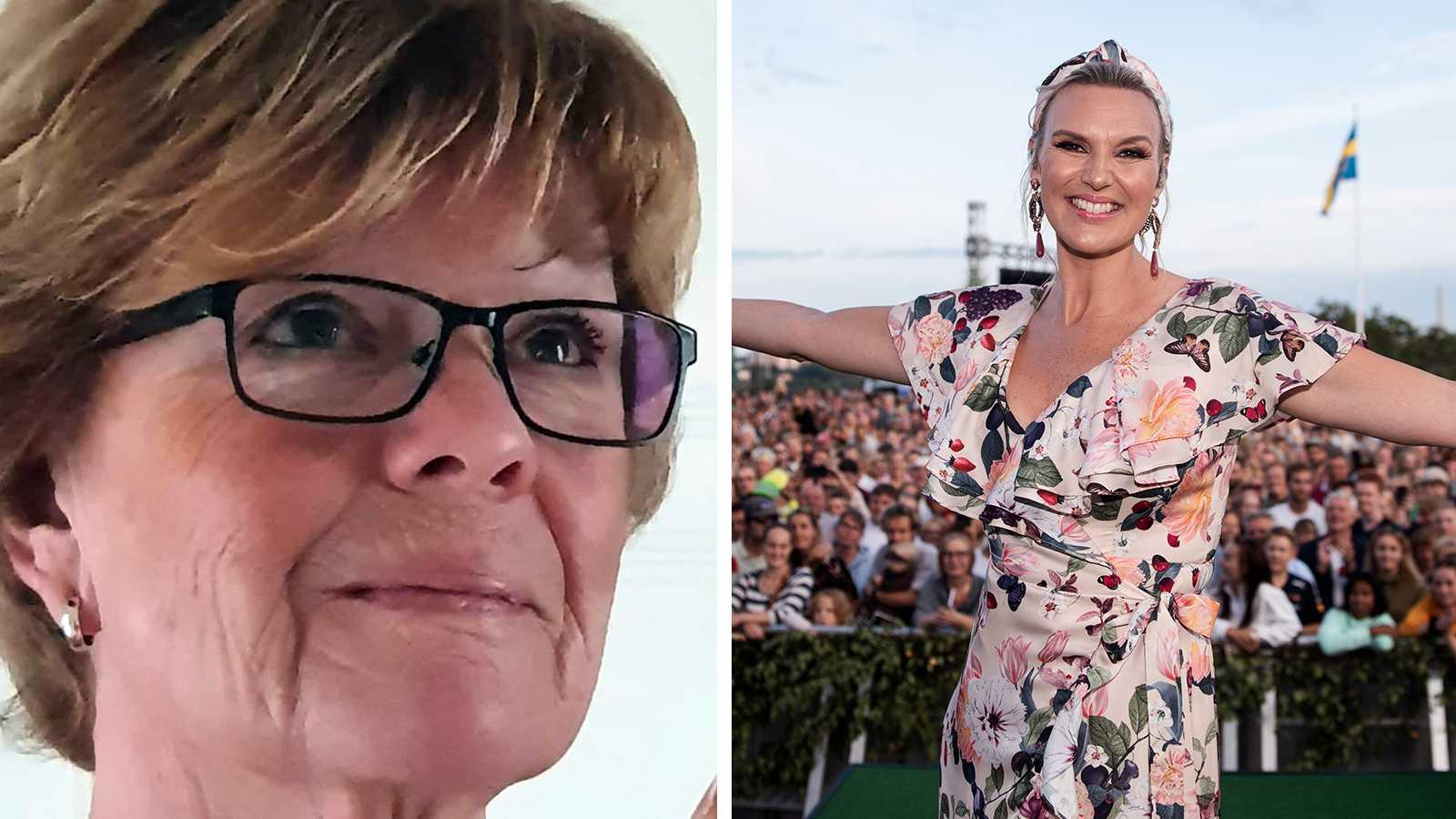 """Ulla Andersson får inte gå ensam för att se Sanna Nielsen leda """"Allsång på Skansen"""" i sommar."""