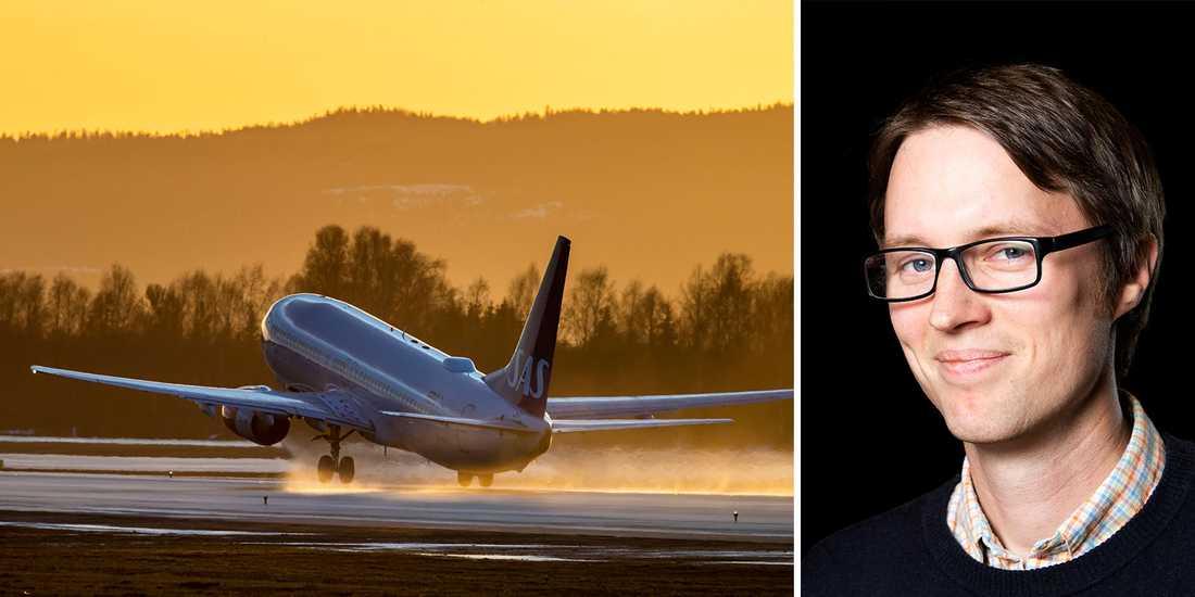 Turismforskaren Erik Lundberg spår en mörk framtid för flygindustrin.