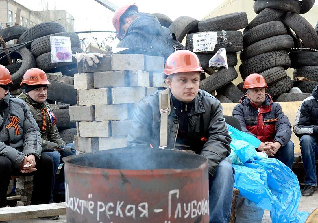 Demonstranter i Donetsk.