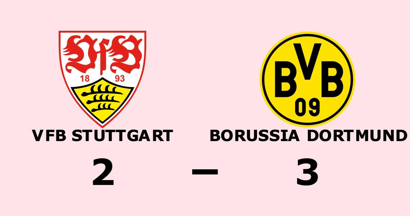 Borussia Dortmund vände halvtidsunderläge till seger